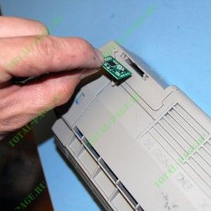 Меняем чип в картриджей OKI C610