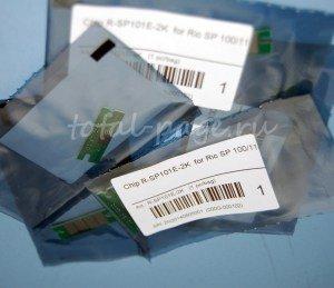 Совместимые чипы для Ricoh SP100