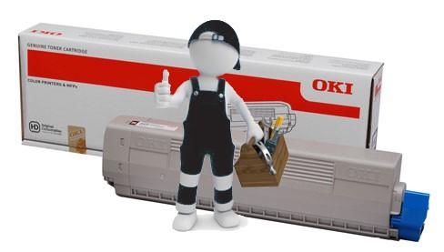 Заправка черного картриджа для OKI C822  с заменой чипа