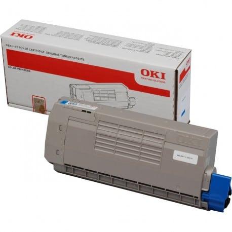 Заправка синего картриджа OKI C711 / C710 с заменой чипа